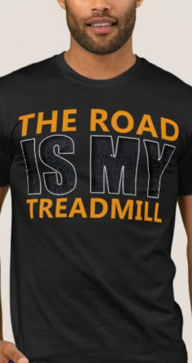 The Road Is My Treadmill Men's Shirt