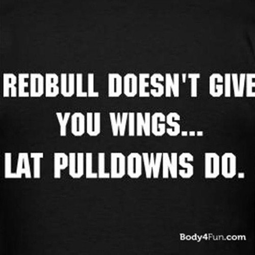20 Gym Jokes To Get You Through Your Next Workout #9: Redbull doesn't give you wings. Lat pulldowns do.