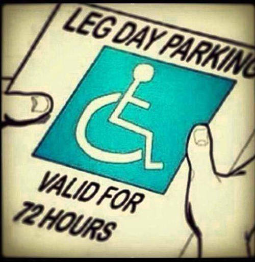 20 Gym Jokes To Get You Through Your Next Workout #16: Leg Day Parking Sign