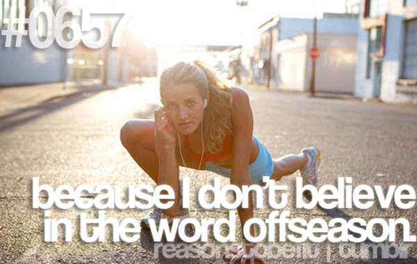 20 Reasons Why You Should Hit The Gym Today #20: Because I don't believe in the word