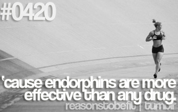 30 Reasons To Be A Fitness Freak #2: Because endorphins are more effective than any drug.