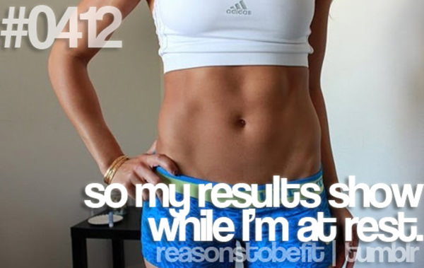 30 Reasons To Be A Fitness Freak #5: So my results show while I'm at rest.