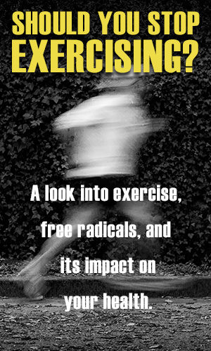 We've all been told that exercise is crucial for our health; to strengthen and build muscle, improve our mood, boosts energy, improve flexibility, increase stamina, flush toxins... and the list goes on. Recently, it has been reported that exercise increases the level of free radicals in our body, which could be harmful to both our short term and long term health. Is there any truth to this? Read on and find out.