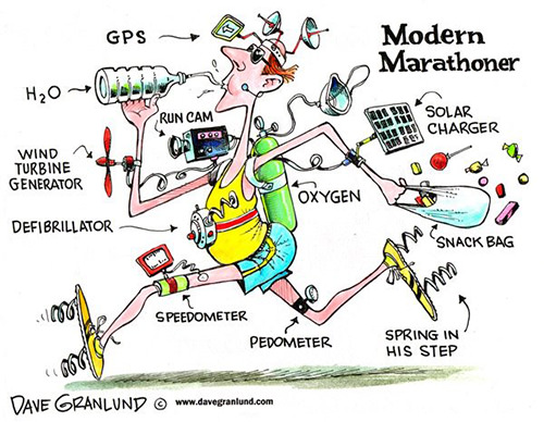 Laugh Your Abs Off With These Fitness Posters #1: Modern Marathoner Cartoon