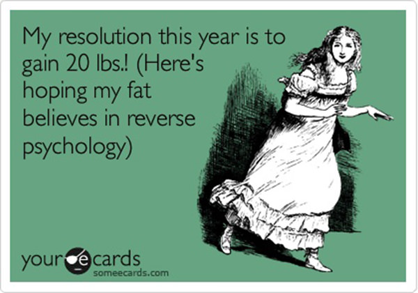 Laugh Your Abs Off With These Fitness Posters #12: Reverse Psychology New Year Resolution.