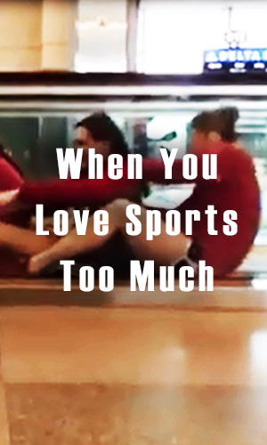 The airport antics in this video by the University of Louiseville Swim And Dive team show how you can have fun with sports pretty much anywhere.
