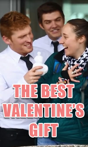 The best gifts are never store-bought. Watch how these fine young men surprise these women with a Valentine's Day gift they will never forget.