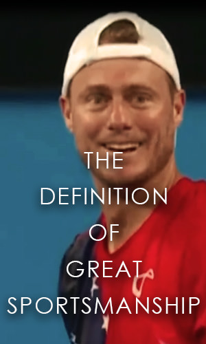 Sportsmanship is a higher form of winning. We see just that in this Hopman Cup match in Perth between Lleyton Hewitt and Jack Sock.