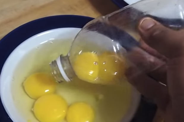Separate yolks from whites