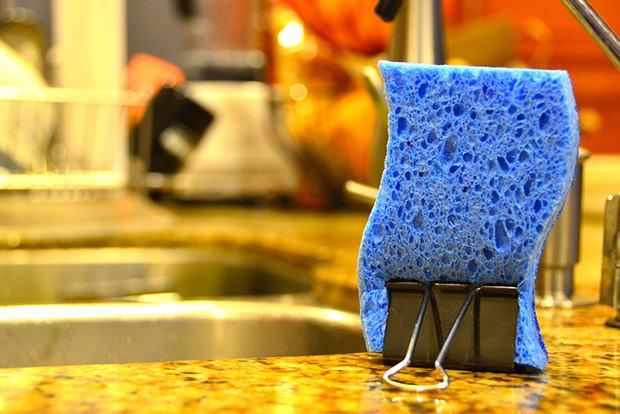 Keep sponges dry