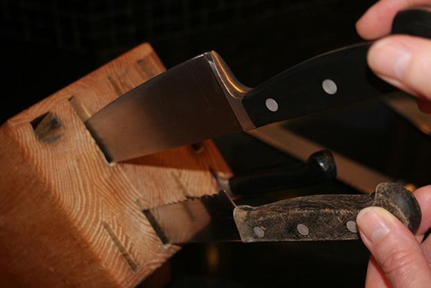 Keep knives sharp