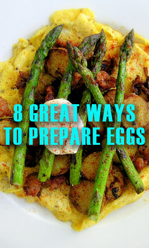 Eggs are a fantastic source of protein, omega 3, vitamins A, B, calcium, phosphorous, lecithin, and iron. They are a super health food that can be prepared and consumed in so many interesting ways.Here are 8 amazing and versatile ways to prepare and enjoy your eggs.