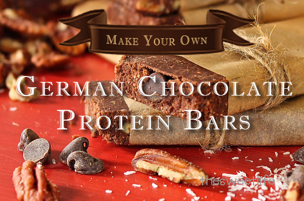 Make Your Own German Chocolate Protein Bars