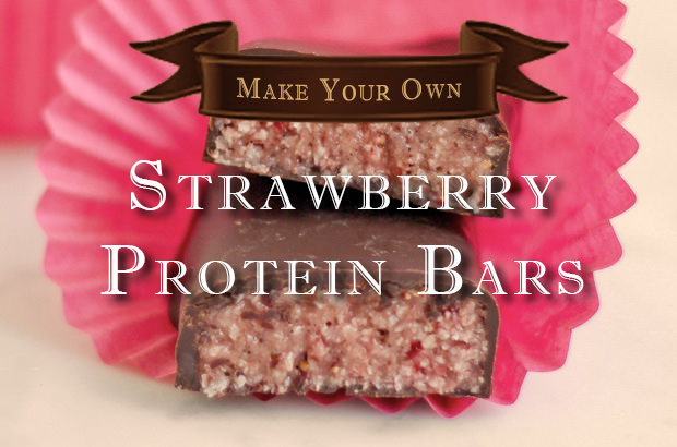 Make Your Own Strawberry Protein Bars