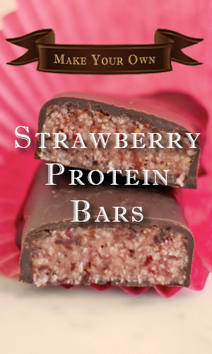 Don't be fooled by the pretty in pink color! These strawberry and coconut bars pack a serious amount of protein — 17 grams per bar. Coat them in antioxidant-rich dark chocolate for an even more divine bite. Here's the recipe and instructions to make it.