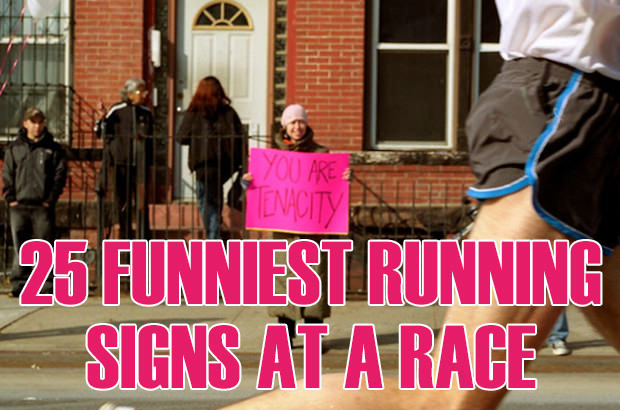 25 Funniest Running Signs At A Race