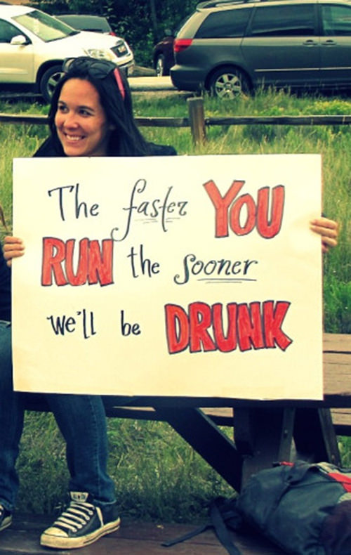 Funniest Running Signs #i: RUNNING. It's not just from the cops anymore.