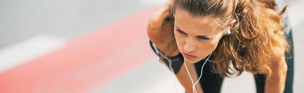 runner with earphones