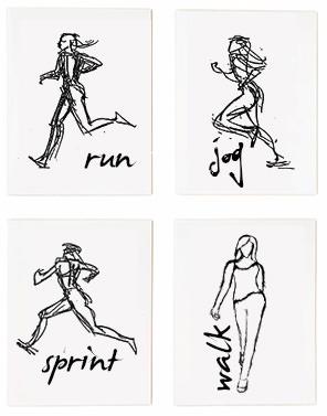 running cards