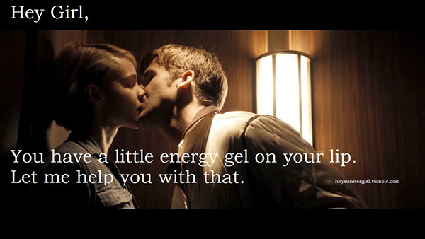 A Collection of the Best Ryan Gosling Running Memes #5: Hey girl, you have a little energy gel on your lip. Let me help you with that.