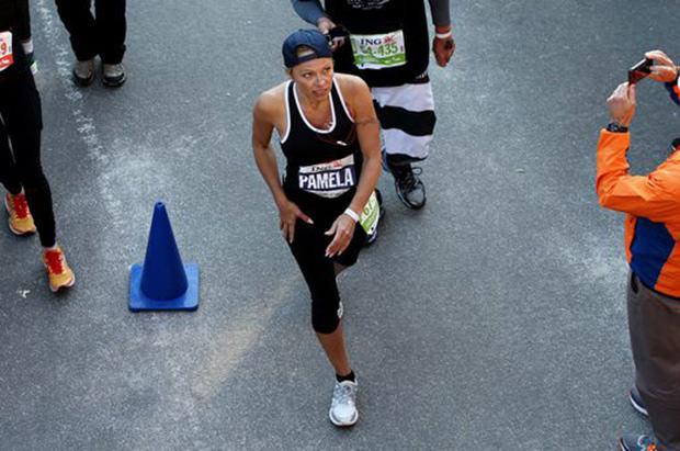 Celebrity Runner Pamela Anderson