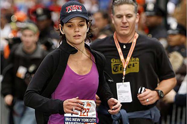 Celebrity Runner Katie Holmes