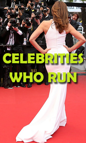 The following celebs aren't just running from the paparazzi; they've made running part of their daily health routine. Read on to find out which actors, singers and TV personalities hit the pavement to stay in shape, keep their cool and even raise money for charity.