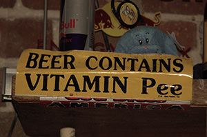 Beer Contains Vitamin Pee