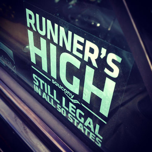 Funnies You'll Enjoy It You're A Runner #14: Runner's High. Still legal in all 50 states.