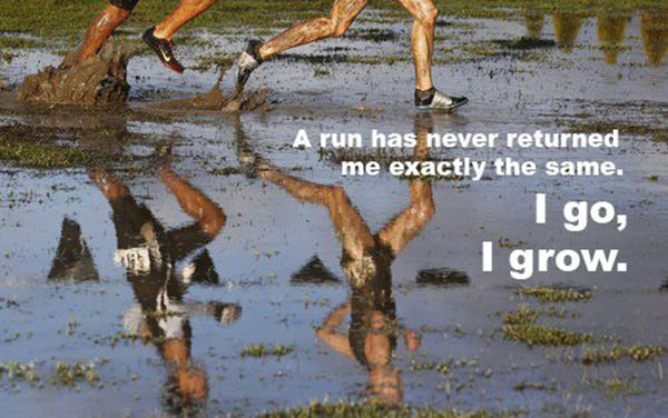 Inspirational Messages To Get You Off That Couch And Go Running #16: Running moves you forward in more ways than one.