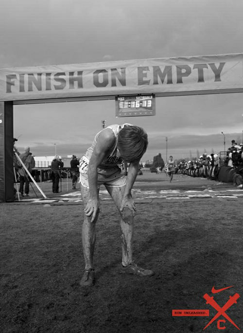 Inspirational Running Quotes For When Your Tank Is Empty #1: Finish on empty
