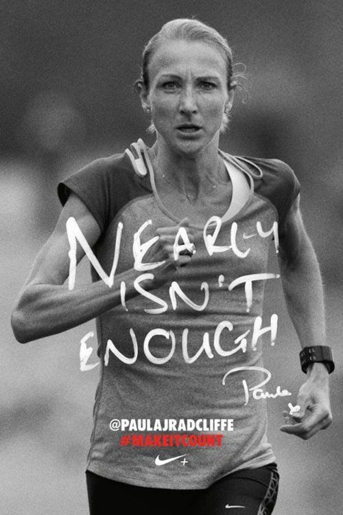 Motivational Running Quotes To Help You Push Through #17: Nearly isn't enough.