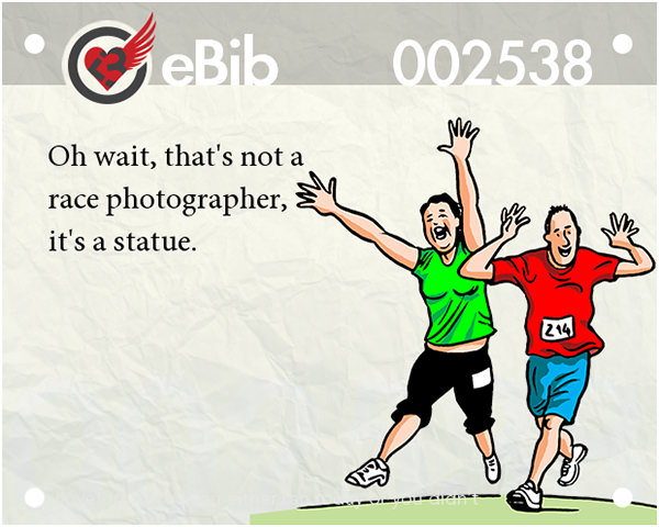 Runner Jokes #9: Runners at Races and Photographers.
