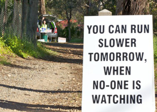 Spectator Placards That Will Get You Running Faster #10: Marathoners last longer. Call me.