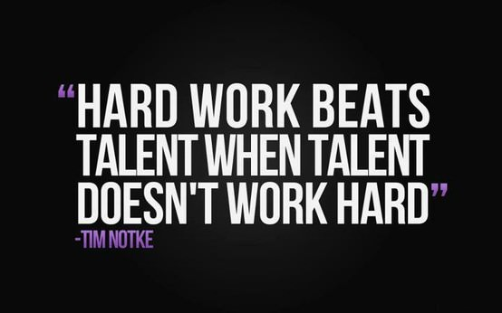 why hard work beats talent when talent doesnt work hard Skills can be taught, but attitude is forever by kurt rakos september 2, 2014 skills and talent are undoubtedly closely related but as the saying goes hard work beats talent when talent doesn't work hard.