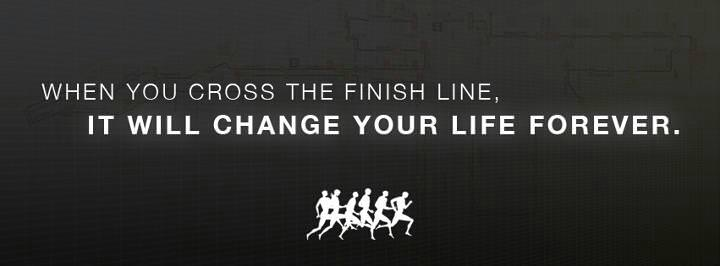 Crossed The Line Quotes: Runner Things #1294: When You Cross The Finish Line, It