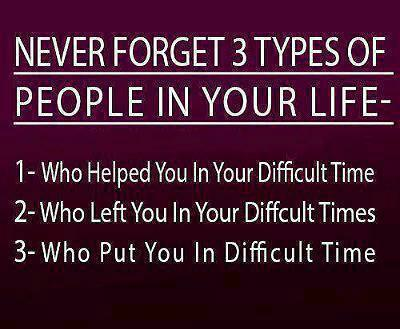 don't Forget The Ones Who Helped You In Difficult Times