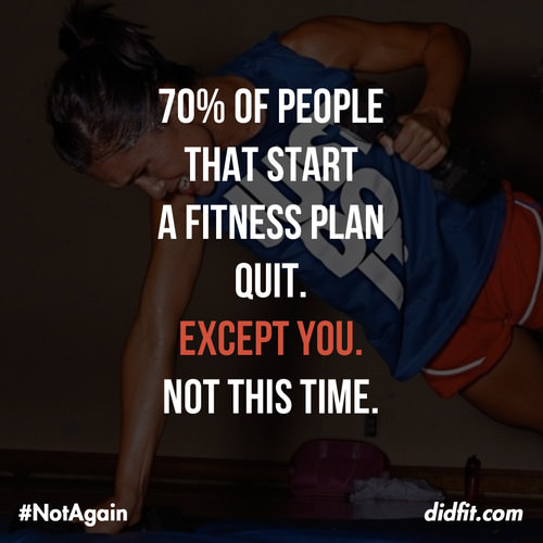 Delicieux Runner Things #1328: 70% Of People That Start A Fitness Plan Quit.