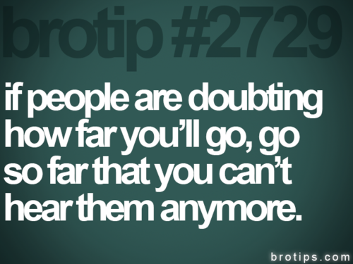 Runner Things #1378: If People Are Doubting How Far You'll