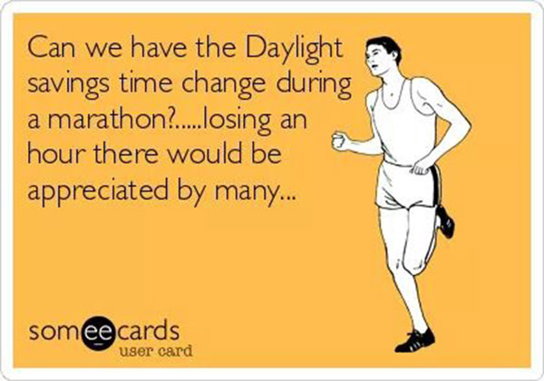 Daylight Savings Time Funny Quotes: Running Humor