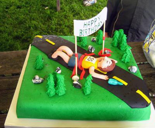 Happy Birthday Runner Cakes