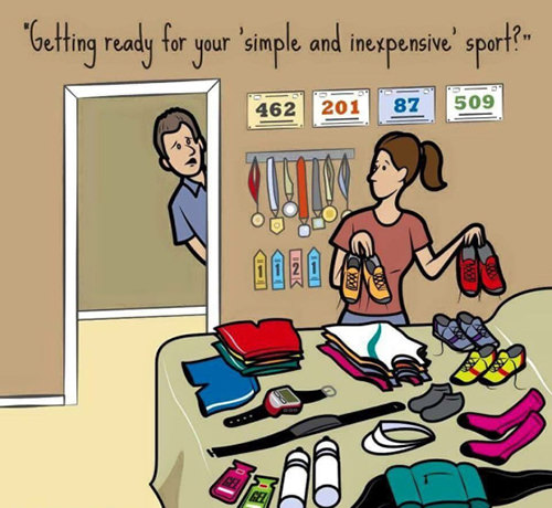 1ec2a360da5b7 Running Matters #241: Getting ready for your simple and inexpensive sport?  - humor