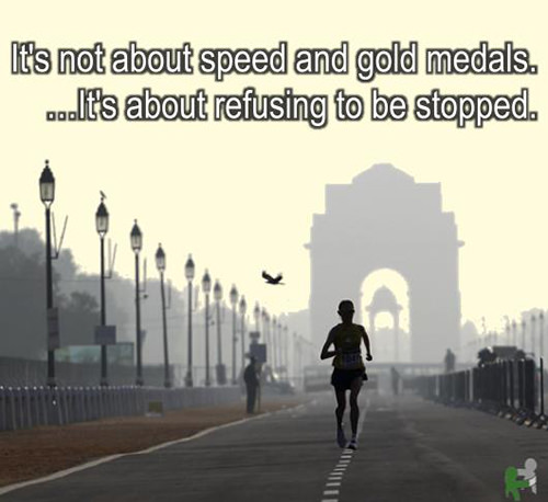 Running Matters #286: It's not about speed and gold medals. It's about refusing to be stopped.